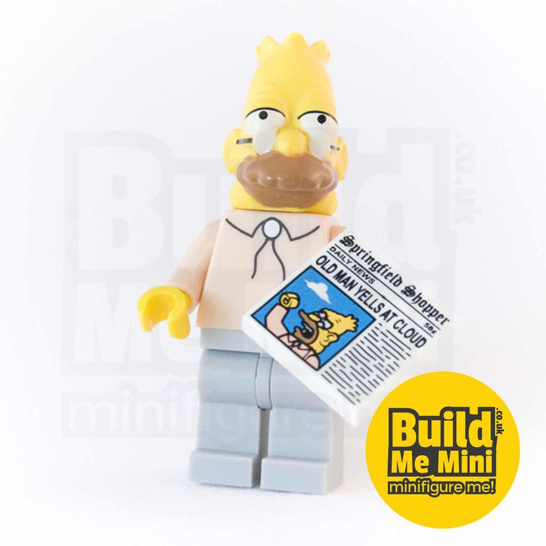 LEGO Grandpa Simpsons Minifigure