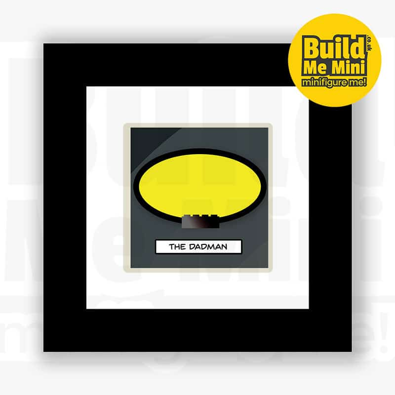 The BatBrick Superhero Minifigure Frame For Mum or Dad LEGO Fans