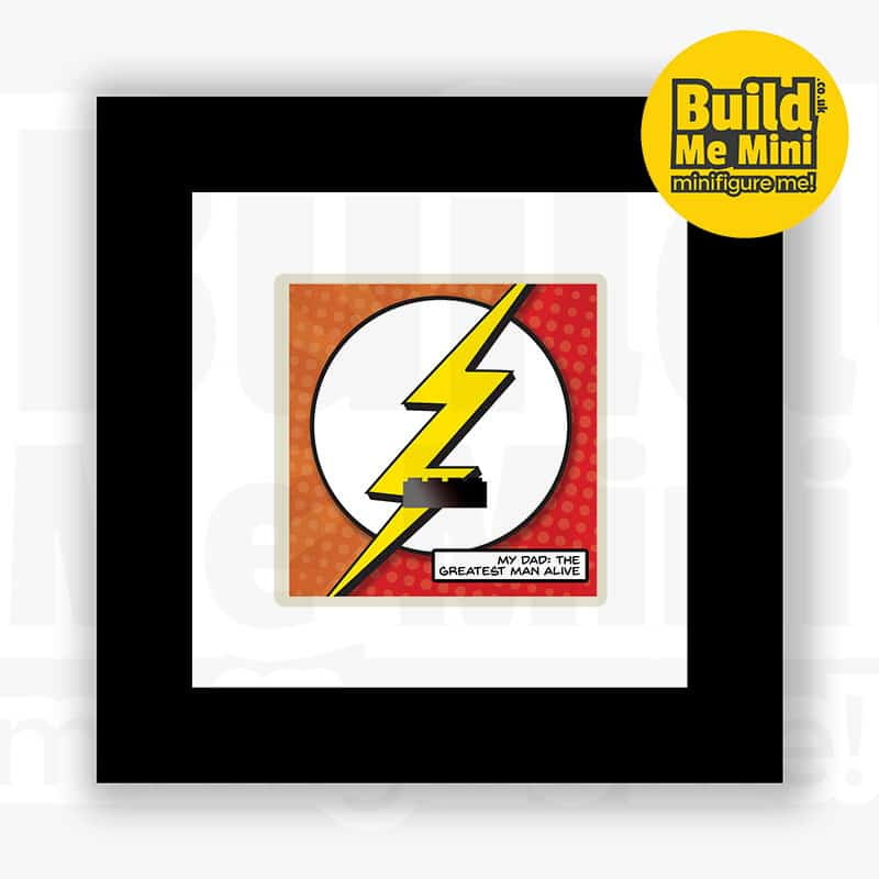 Flashy Superhero Minifigure Frame For Mum or Dad LEGO Fans