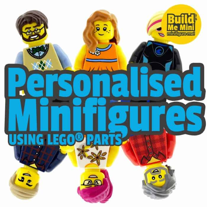 Personalised Minifigures made from LEGO parts