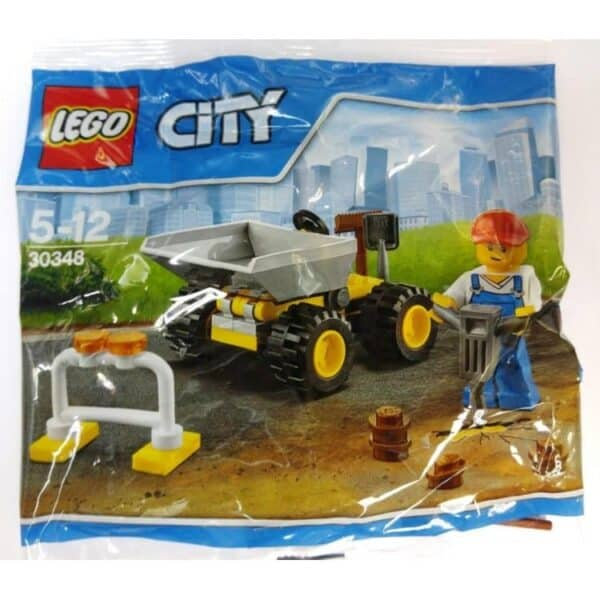LEGO Set 30348 City Mini Dumper Digger Minifigure Polybag
