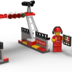 LEGO Set 40194 Ferrari Racers Finish Line and Podium Set Polybag