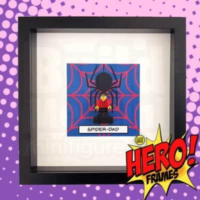SpiderBrick Superhero Minifigure Frame For Mum or Dad LEGO Fans