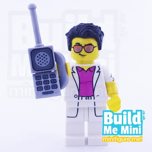 LEGO Retro Yuppie Guy with Old Mobile Phone Collectible Minifigure Series 17