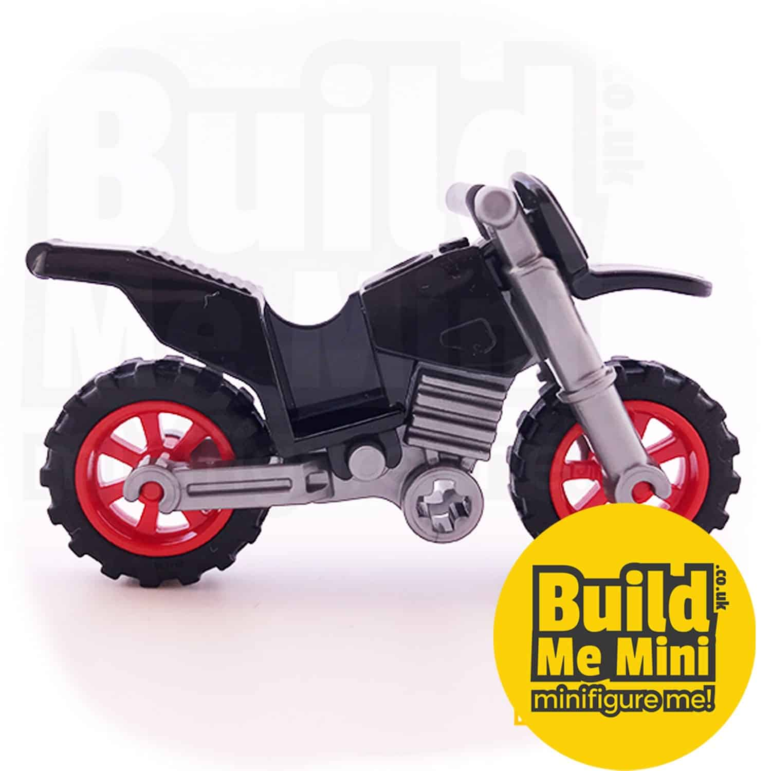 Lego Minifigure Scale Rally Motorbike (Multiple Colours)