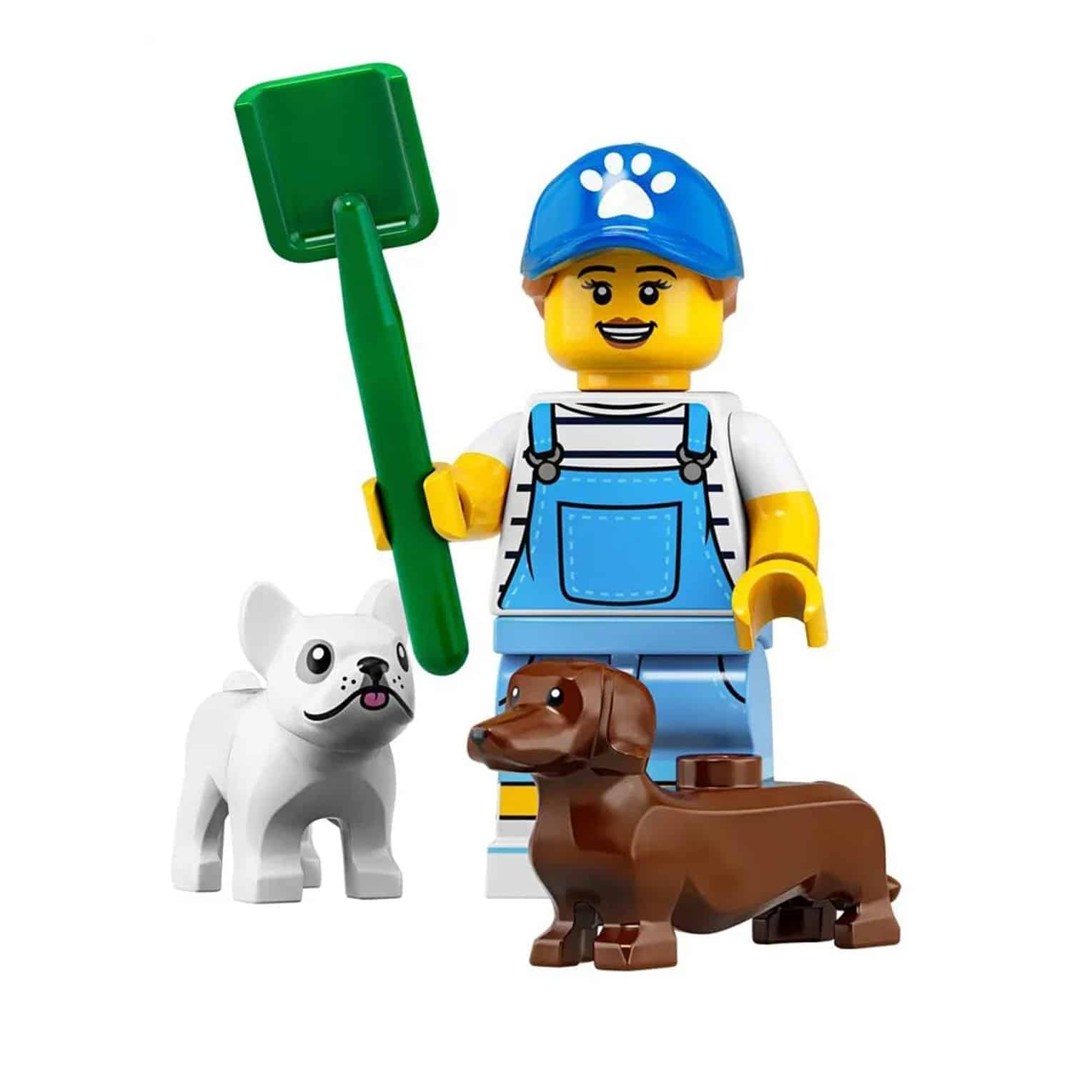LEGO Dog Sitter Trainer Minifigure and Dogs – Series 19 CMF