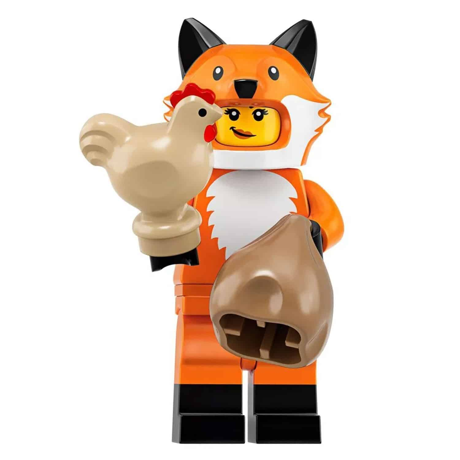 LEGO Fox Suit Girl Minifigure with Hen – Series 19 CMF