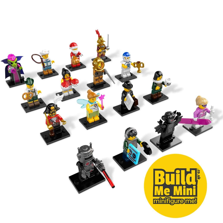 8 LEGO-MINIFIGURES SERIES X 1 SANTA BAG FOR THE SANTA FROM SERIES 8 CHRISTMAS