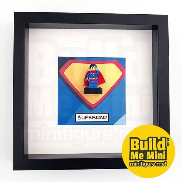 Man of Brick Superhero Minifigure Frame For Mum or Dad LEGO Fans