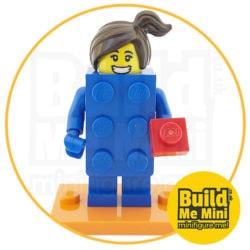 LEGO Series 18 CMF Classic Blue Brick Suit Minifigure