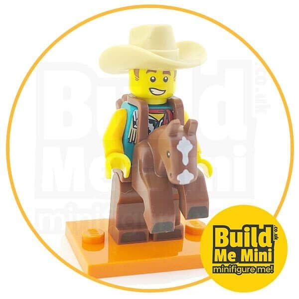 LEGO Series 18 CMF Cowboy and Horse Suit Minifigure
