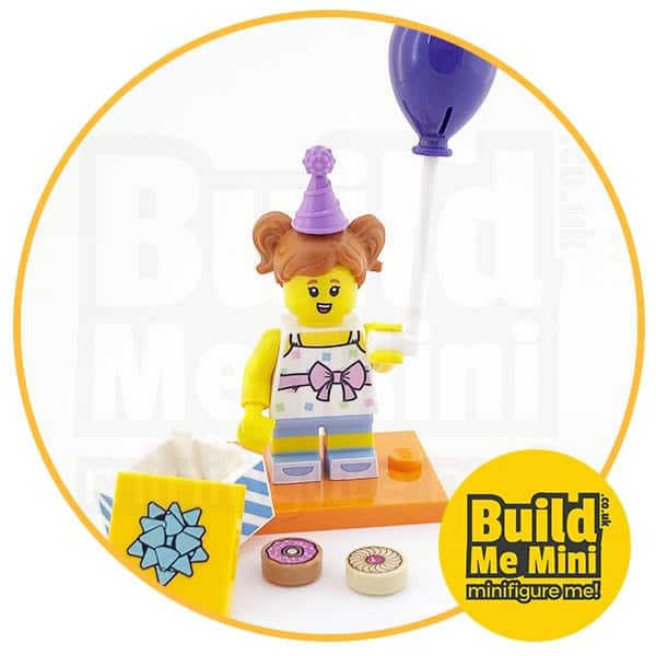 LEGO Series 18 CMF Party Girl, Purple Balloon and Cake Tiles Minifigure