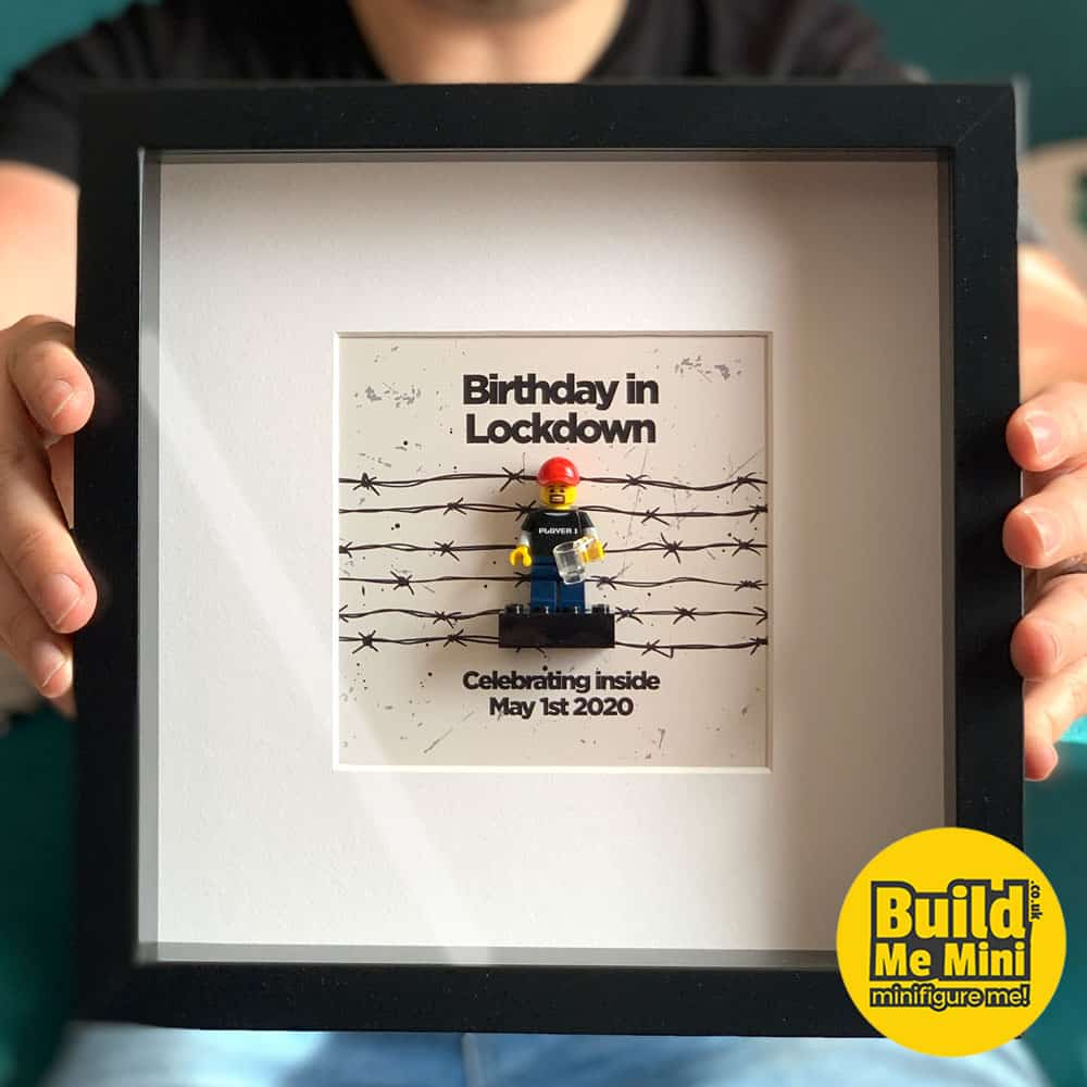 Lockdown Birthday Gift Minifigure Frame LEGO® Fans