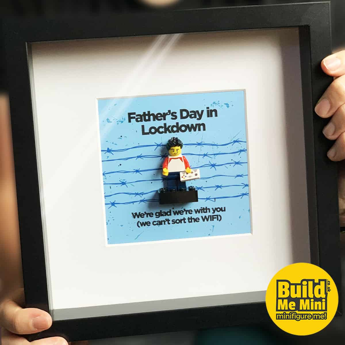 Lockdown Father's Day Gift Minifigure Frame LEGO® Fans